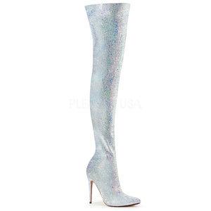 "Shoes - 5"" High Heel Stiletto Glitter Thigh High Boots"